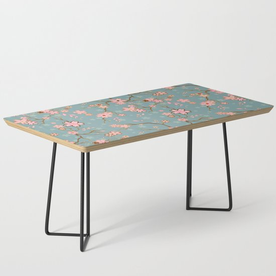 Blue Spring Batik Coffee Table by bloomejasmine | Societ