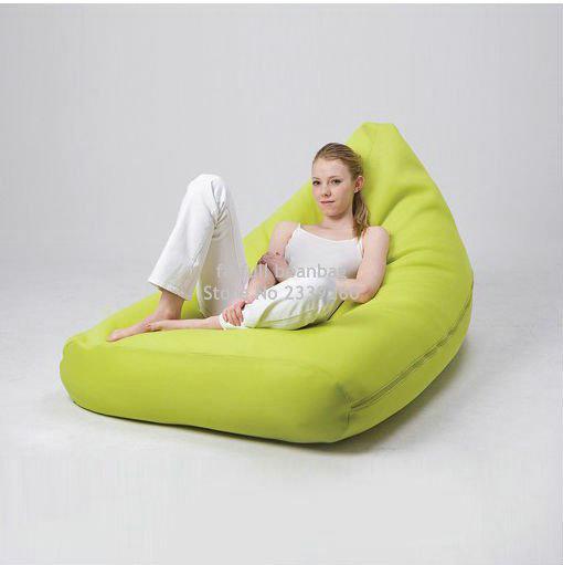 Cover only No Filler Green outdoor bean bag sofa chair high .