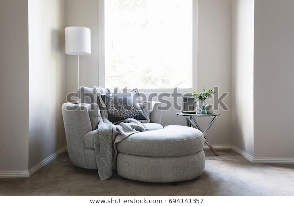 Gorgeous Bedroom Sofa Chair Throw Rug Stock Photo (Edit Now) 6941413