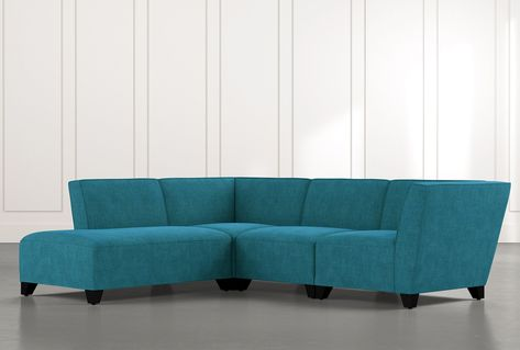 Benton II Red 4 Piece Sectional with Left Arm Facing Bumper Chaise .