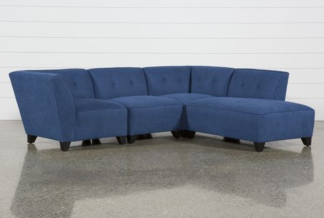 Benton II 4 Piece Sectional With Right Facing Bumper Chaise .