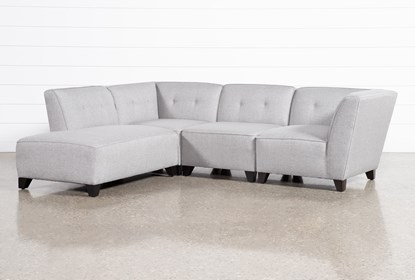 Benton III 4 Piece Sectional With Left Facing Bumper Chaise .