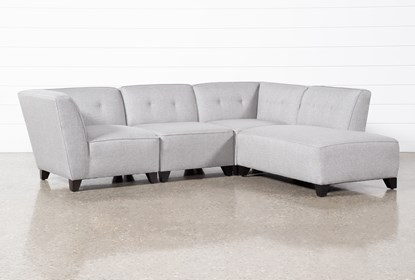Benton III 4 Piece Sectional With Right Facing Bumper Chaise .