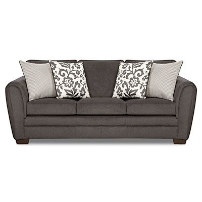 Lane Home Solutions Flannel Charcoal Sofa   Living room furniture .