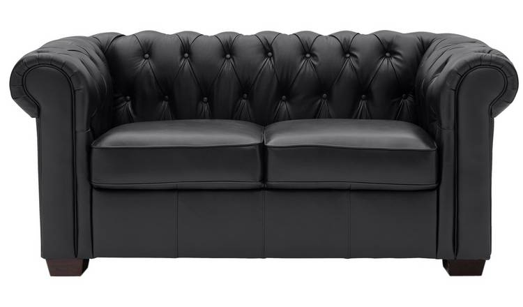 Buy Argos Home Chesterfield 2 Seater Leather Sofa - Black | Sofas .