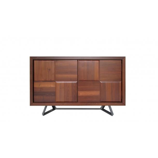 Sierra Sideboard Cabinet In Burnt Oak Wood Top And Matte Black .