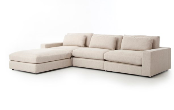 Bloor Sofa With Ottoman - Natural | Sofa, Sectional so