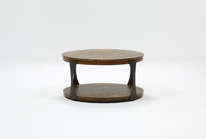 Blanton Round Coffee Table | Living Spac