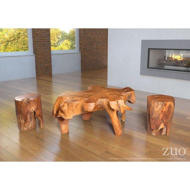 404232 Broll Table-Broll coffee table is made of solid teak wood .