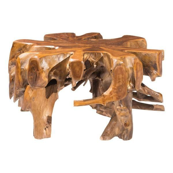 About The Product Broll coffee table is made of solid teak wood .