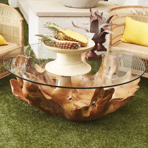 Broll Coffee Table - Wisteria | Tree coffee table, Natural coffee .