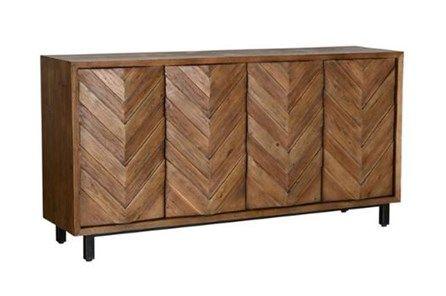 Brown Chevron 4-Door Sideboard | Chevron furniture, Brown chevron .