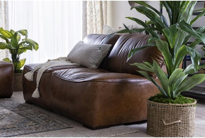 Burton Leather 3 Piece Sectional | Living Spac
