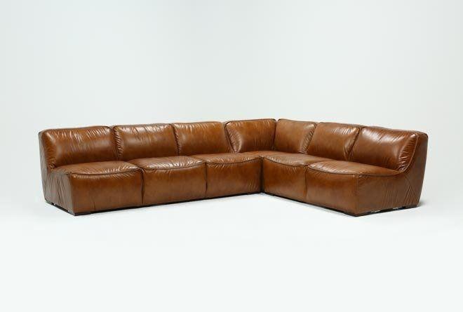 Burton 3 Piece Sectional Sofa - Brown - $3795 in 2020 | 3 piece .