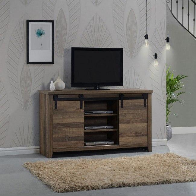Calhoun Media Chest w/ Barn Door by Crown Mark Furniture .
