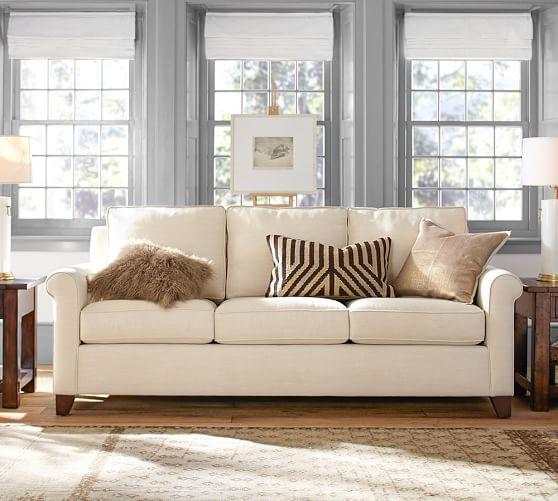 Cameron Roll Arm Fabric Sofa | Pottery Ba
