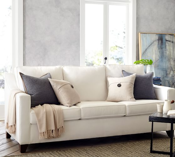 Cameron Slope Arm Fabric Sofa | Pottery Ba