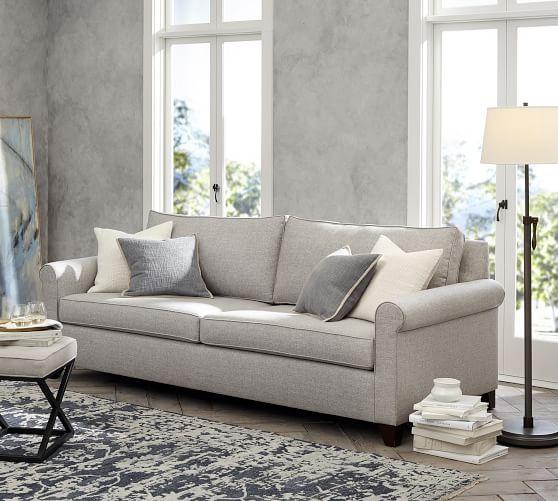 Cameron Roll Arm Deep Seat Fabric Sofa | Pottery Ba