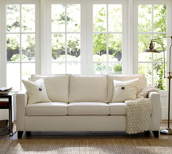 Cameron Square Arm Upholstered Deluxe Sleeper Sofa Bed | Pottery Ba