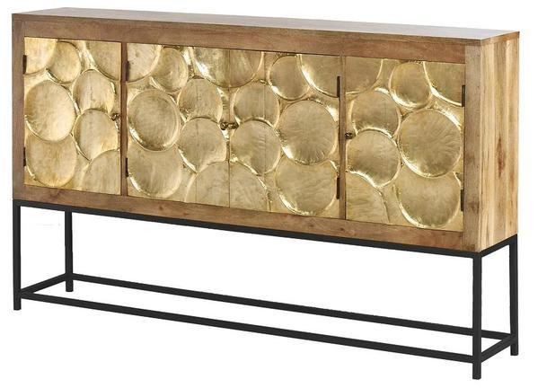 Urban Composition UCS-6824 Natural Brass Wrap 4 Door Cabinet – Rug .