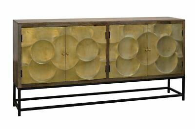 """80"""" Large Modern Rustic Capiz Refinement 4 Door Sideboard Buffet ."""