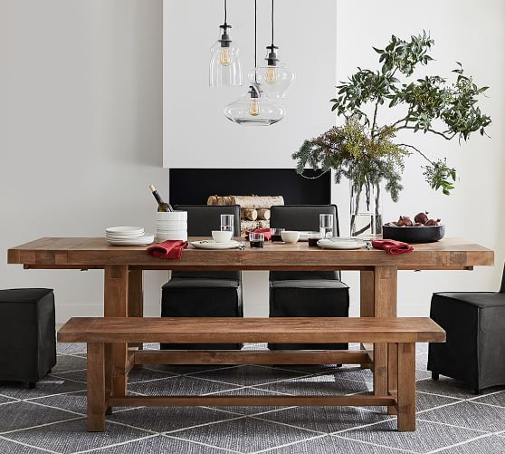 Perfect Pair: Reed Extending Dining Table with Bench + Carissa .