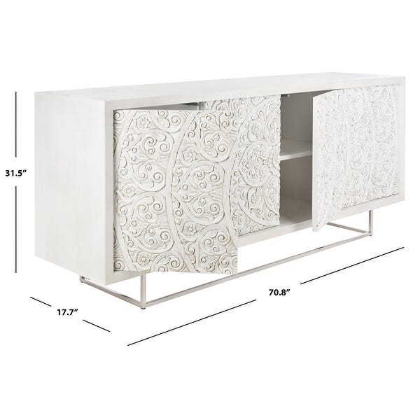 Shop Safavieh Couture Salvatore Hand-Carved Scroll Storage .