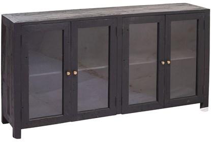 Black 4 Door Glass Sideboard | Living Spac