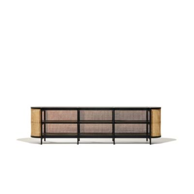 Cane Media Console (With images) | Mid century media console .