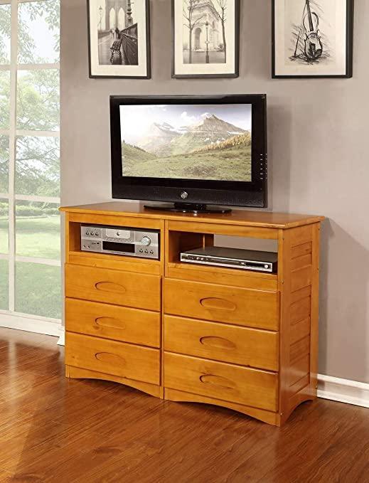 Amazon.com: American Furniture Classics Honey-Finished Pine Wood 6 .