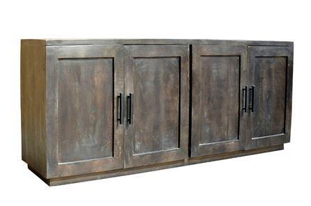 Otb Charcoal Finish 4-Door Jumbo Sideboard - Main | Sideboard .