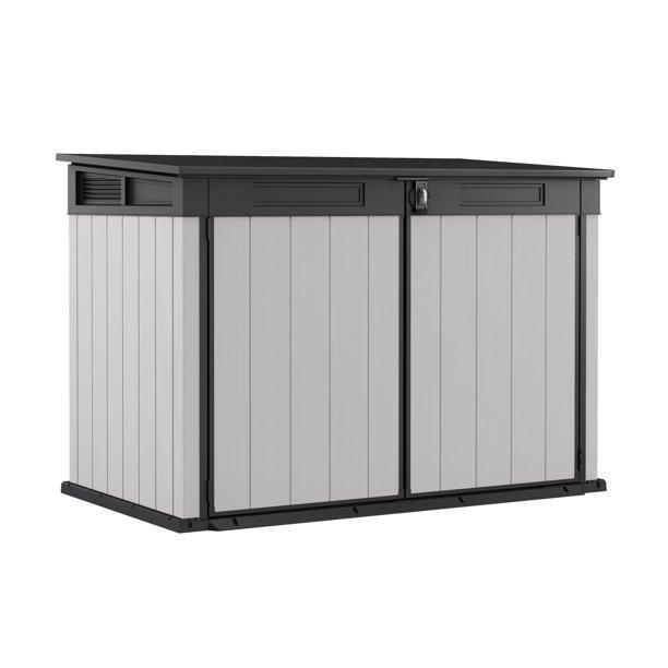 Keter Premier Jumbo Horizontal Shed, Resin Outdoor Storage, Gray .