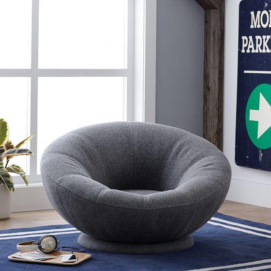 Tweed Groovy Swivel Chair | Lounge Chair | Pottery Barn Te