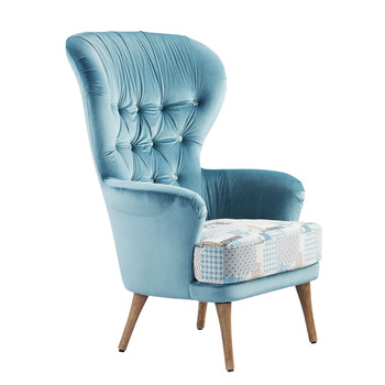 Modern High Back Wing Chair Single Seater Sofa Chairs High Back .