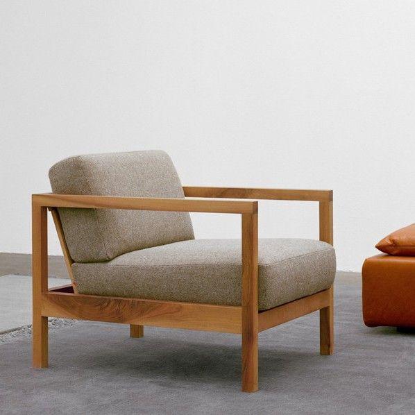 Nordic leisure chair modern minimalist wood frame single sofa .