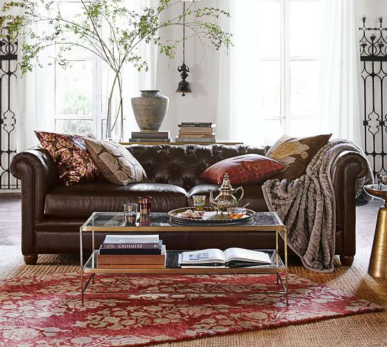 Chesterfield Leather Sofa | Pottery Ba