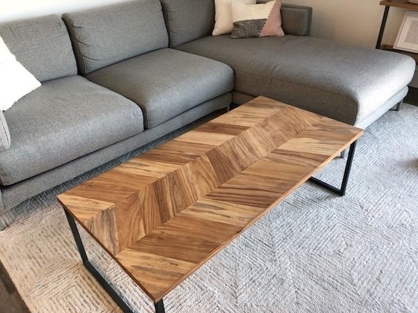 "Sold CB2 Chevron 48"" Coffee Table in Marina Del Rey - let"