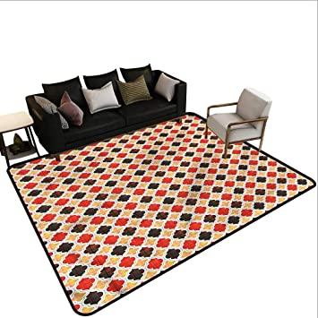 "Amazon.com: Geometric,Anti-Slip Coffee Table Floor Mats 48""x 60 ."