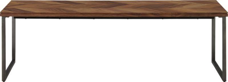 "chevron coffee table | CB2 - $399.00 chevron coffee table. 48""Wx23 ."