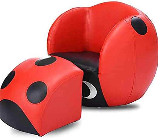 Amazon.com: V&K Cartoon Child Sofa,Lady Bug Shape Sofa Bed Chair .
