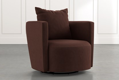 Twirl Brown Swivel Accent Chair | Living Spac