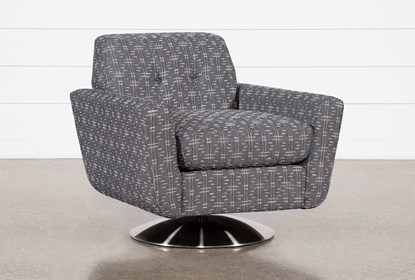 Chill III Swivel Accent Chair With Metal Base | Living Spac