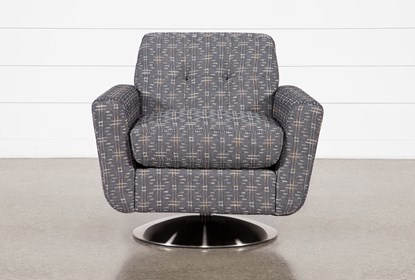 Chill III Swivel Accent Chair With Metal Base   Living Spac