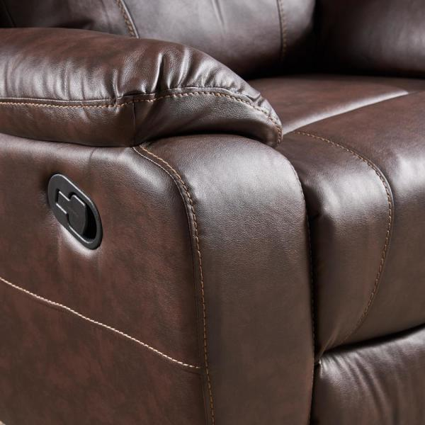 Noble House Malic Classic Tufted Dark Brown Leather Swivel .