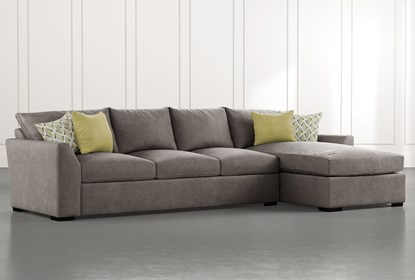 Cohen Foam II 2 Piece Sectional With Right Arm Facing Chaise .