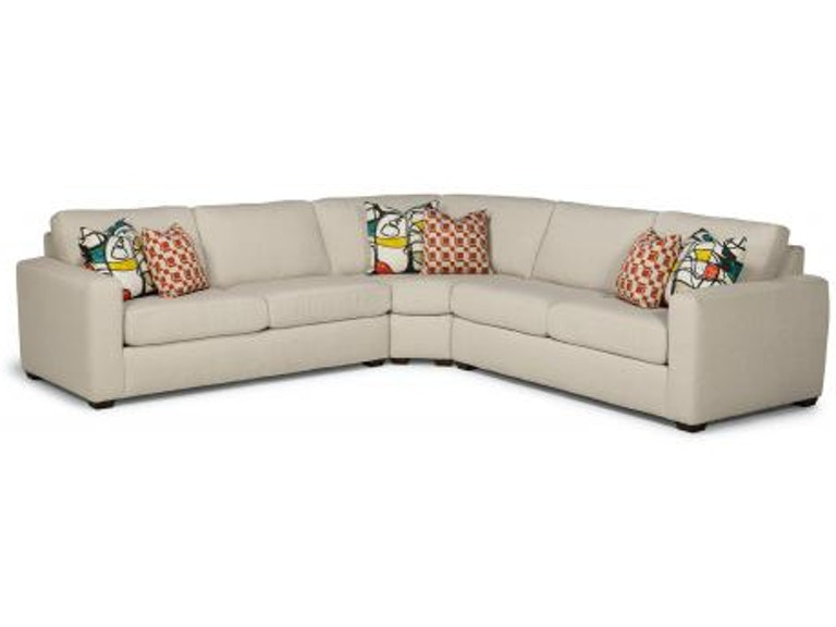 Flexsteel Collins Fabric Sectional 7107-SECT - Portland, OR | Key .
