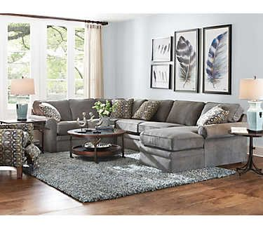 Collins-II 4 PC Sectional (With images) | Living room sectional .