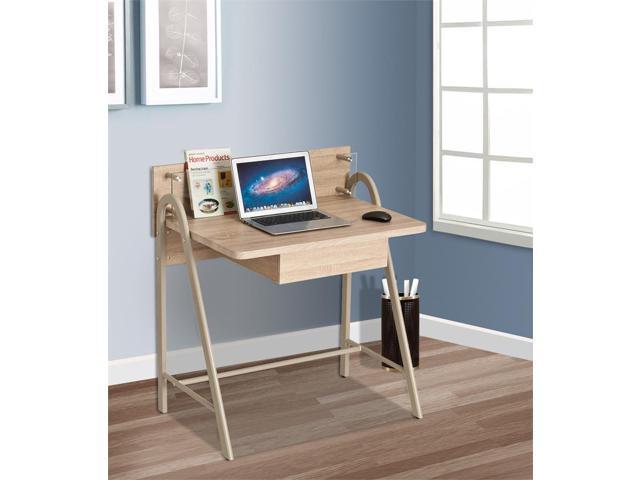 ProHT Home Office Modern Compact Computer Desk, Light Oak, 05012 .