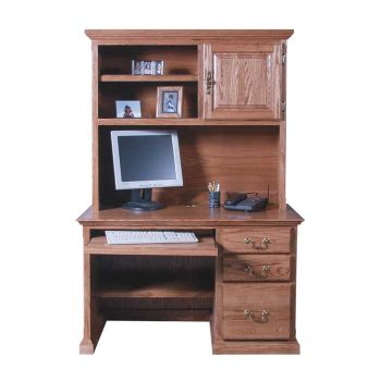 Traditional Compact Computer Desk with Hutch   OfficeFurniture.c