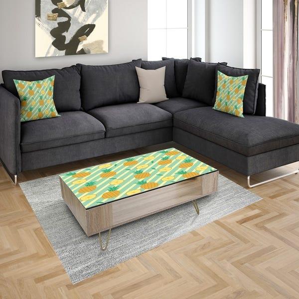 Shop Designart 'Circles & Curves II' Modern Coffee Table .